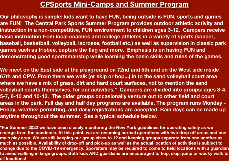 CPSports Mini-Camps and Summer Program